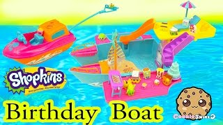 getlinkyoutube.com-Shopkins Season 2 Birthday Party Boat with Pool + Water Ski Fun - Cookieswirlc Play Video
