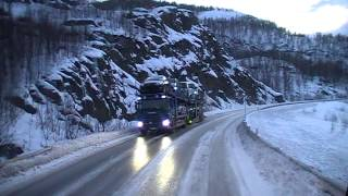 getlinkyoutube.com-Driving up to the Arctic area in a Volvo-FH truck (Part 1)