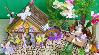 getlinkyoutube.com-Beautiful Magical Fairy House and Garden .. Easy to make ..