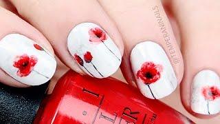 getlinkyoutube.com-Poppy Flower Nail Art Tutorial