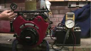 getlinkyoutube.com-BRIGGS & STRATTON V TWIN VANGUARD ENGINE 18HP, OIL & CYLINDER PRESSURE, CHARGING CHECKS
