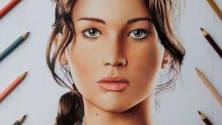 getlinkyoutube.com-Desenhando Katniss Everdeen (Jogos Vorazes) /Drawing Katniss Everdeen