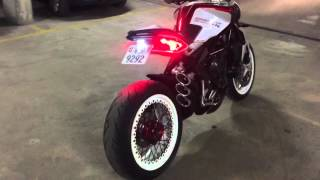 MV AGUSTA DRAGSTER 800 RR modified / QD Exhaust test without db killer.