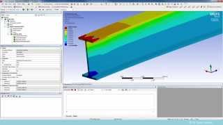 getlinkyoutube.com-Solid I-Beam Static Structural Finite Element Analysis