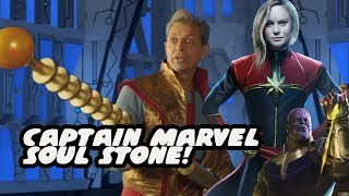 The Soul Stone Is In Grandmaster's Staff And Is Captain Marvel STUCK In It?  Avengers Infinity War