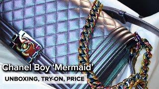 getlinkyoutube.com-Chanel Cruise 2016   MERMAID Iridescent Boy Medium   Unboxing