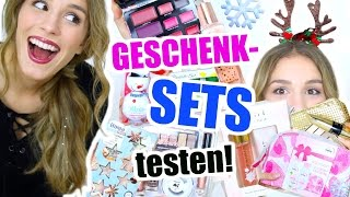 getlinkyoutube.com-GESCHENK SETS aus der DROGERIE auspacken und testen! ♡ BarbieLovesLipsticks