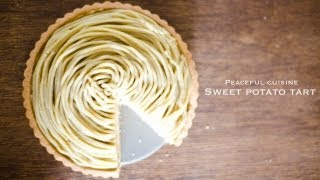 getlinkyoutube.com-Sweet potato tart (vegan) ☆ さつま芋のモンブランタルト