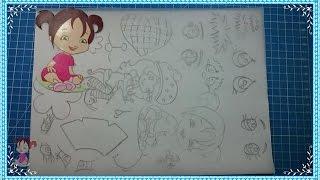 getlinkyoutube.com-#Como Copiar Qualquer #Desenho ou #Molde sem #Impressora e Transferir para o Eva