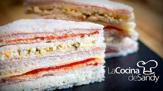 getlinkyoutube.com-Sandwiches de miga receta sandwich jamon tomate pimiento huevo