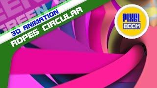 getlinkyoutube.com-Colorful Ropes Circular Loop Motion Background HD 1080p 4K