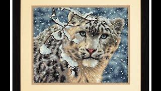 """getlinkyoutube.com-Вышивка крестом: """"Snow Leopard"""" от DIMENSIONS. Что в наборе? Начало работы."""
