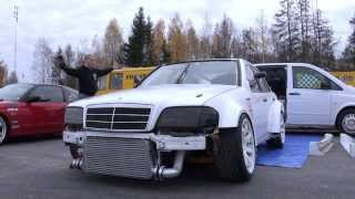getlinkyoutube.com-Driftloco Mercedes C36 AMG Turbo Driftcar - Green Valley 2013 (Testdrive One)