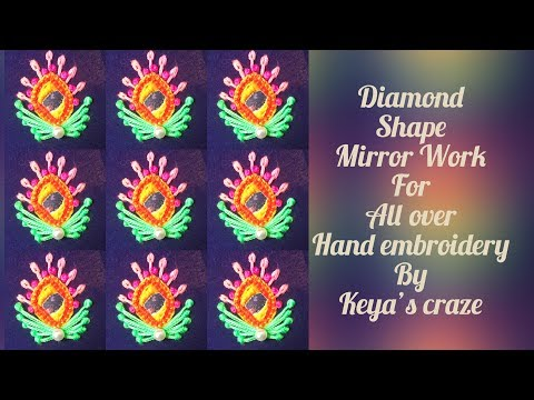 Download Thumbnail For Hand Embroidery 2019 Diamond Shape Mirror