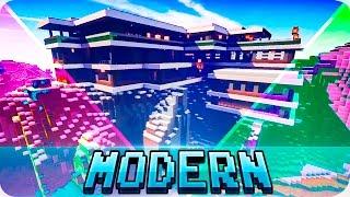 getlinkyoutube.com-Minecraft - TOP 5 Best Modern Houses in Minecraft - Modern Houses and Mansions