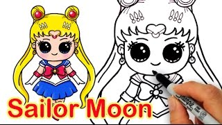 getlinkyoutube.com-How to Draw Sailor Moon Cute and Easy