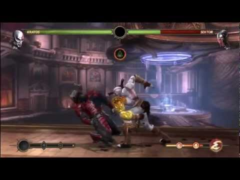 MK9 - Kratos Combo Compilation - Mortal Kombat 9