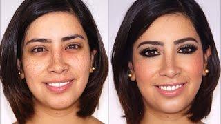 getlinkyoutube.com-Maquillaje Ojos Ahumados  Verde y Azul -Makeup Addiction Eye Shadows