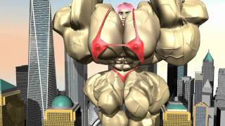 getlinkyoutube.com-3d animation of Female Bodybuilder - Muscle Growth at the WTC