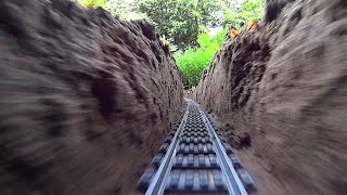 getlinkyoutube.com-Super Long LEGO Train Track Setup Outdoor!