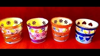 getlinkyoutube.com-Diy Very Easy Festive Paper Votives / Tealight Holder in 5 minutes