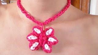 """getlinkyoutube.com-Como Hacer un Collar de Gomitas en Forma de Flor Para el """"Dia De Las Madres"""""""