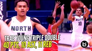 getlinkyoutube.com-Trae Young Gets SAUCEY!! Nasty Triple Double in 3 Quarters!!