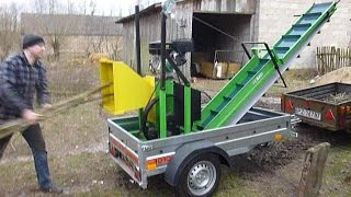 getlinkyoutube.com-Häcksler Holzhäcksler Holzschredder Traktorschredder HOLZHACK 3900 EuroMASCHINE Wood Chipper