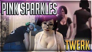 REACTION TO PINK_SPARKLES TWERKING!!