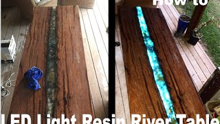 getlinkyoutube.com-LED epoxy resin river table