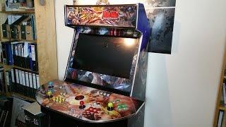 getlinkyoutube.com-Custom Arcade Cabinet Review - 4-player Turnarcades Monster!!!