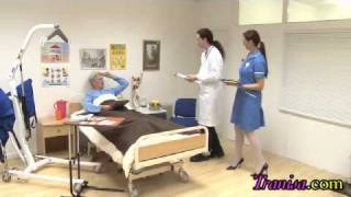 getlinkyoutube.com-NURSE !! Transvestite Transformation fantasy. Male Turned into Female