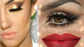 getlinkyoutube.com-Look en Dorado ( Holiday Look )