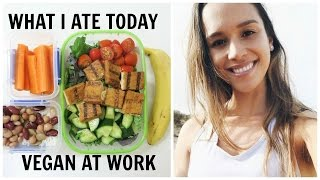 WHAT I ATE TODAY AT WORK | VEGAN