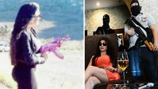 getlinkyoutube.com-Mexican Kim Kardashian 'takes over as boss of drug cartel hit squad' uses personalised pink AK47