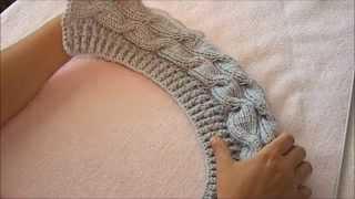 getlinkyoutube.com-Женская осенняя шапка ( верхняя часть)