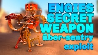 getlinkyoutube.com-TF2 - The Uber Sentry: Engineers secret weapon (exploit)