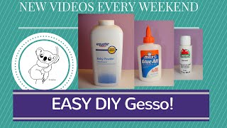 EASY DIY Gesso  process TUTORIAL
