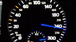 Scirocco R dsg 0-100 Topspeed Sound test acceleration