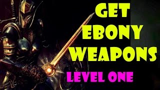 getlinkyoutube.com-Skyrim: How to get the Ebony Bow & Great Sword at Level One (Best Start Guide)
