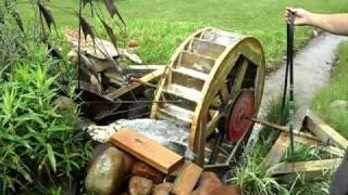 getlinkyoutube.com-Home made  water wheel