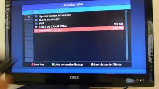 ACTUALIZAR FIRMWARE IRIS 9700 HD E INSTALACION LISTA DE CANALES