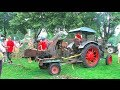 Holz häckseln mit dem Lanz Bulldog - Start, run and wood cutting with historic tractor