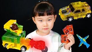 getlinkyoutube.com-[이벤트]고브 & 제트 터닝메카드 W 시즌2 변신 로봇 자동차 공룡 디스크캐논 장난감 놀이 LimeTube & Toy 라임튜브