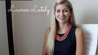 getlinkyoutube.com-Lauren Lately: MY FIRST VIDEO // Personal Q&A