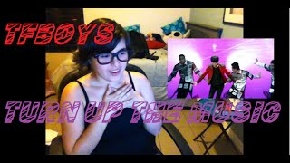 getlinkyoutube.com-[Request] TFBOYS Fans Time Jackson Solo Dance (Turn Up The Music) Reaction