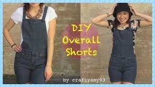getlinkyoutube.com-DIY Overall Jean Shorts + How I Style Overalls