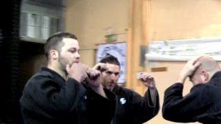 getlinkyoutube.com-Ninjutsu against multiple attackers - Yossi Sheriff, AKBAN Academy