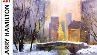"getlinkyoutube.com-Paint Along with Larry Hamilton-Oil-Dec.17, 2014 - ""NYC-Central Park"""