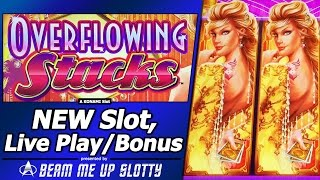 getlinkyoutube.com-Overflowing Stacks Slot - Live Play and Free Spins Bonuses with Re-Triggers in First Attempt